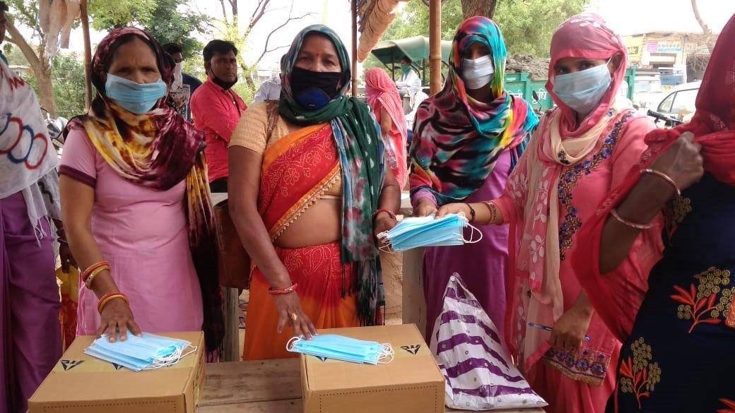 Soap & masks provided to anganwadi workers - Ghiesera Pahadi Gopal Garth villages
